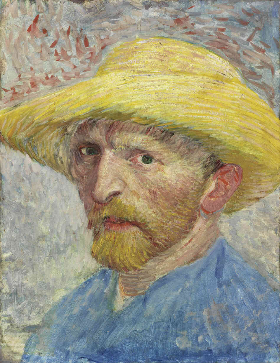 Christie's estimates this piece would sell for $  80-$  150 million.Self-Portrait, Vincent van Gogh, 1887, oil on artist board, mounted to wood panel.