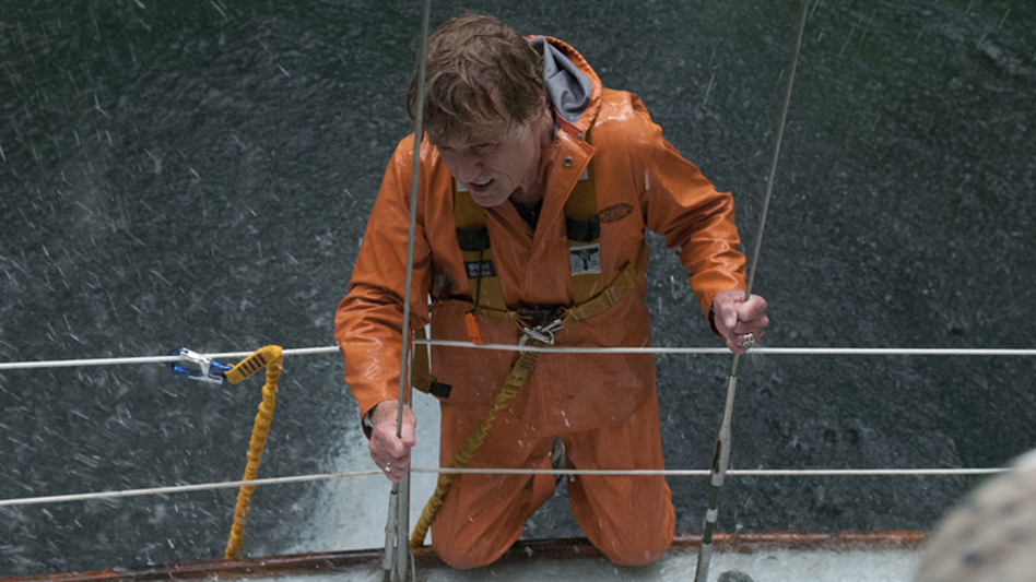 Robert Redford stars in All Is Lost as a solitary man struggling to make his yacht seaworthy again after it collides with a rogue shipping container adrift in the Indian Ocean. (Roadside Attractions/Lionsgate)