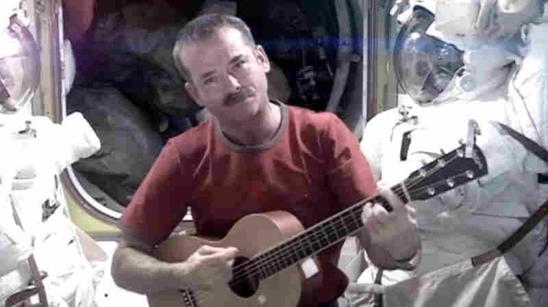 Astronaut Chris Hadfield records the first music video from space on May 12, 2013.