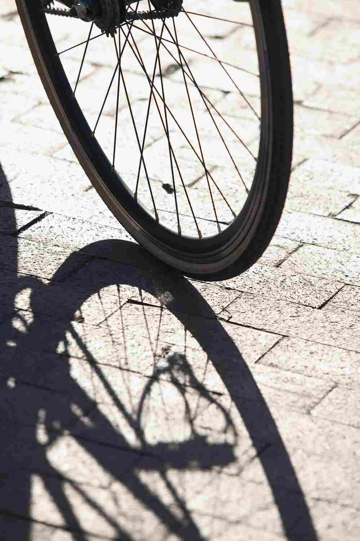 A bike tire.