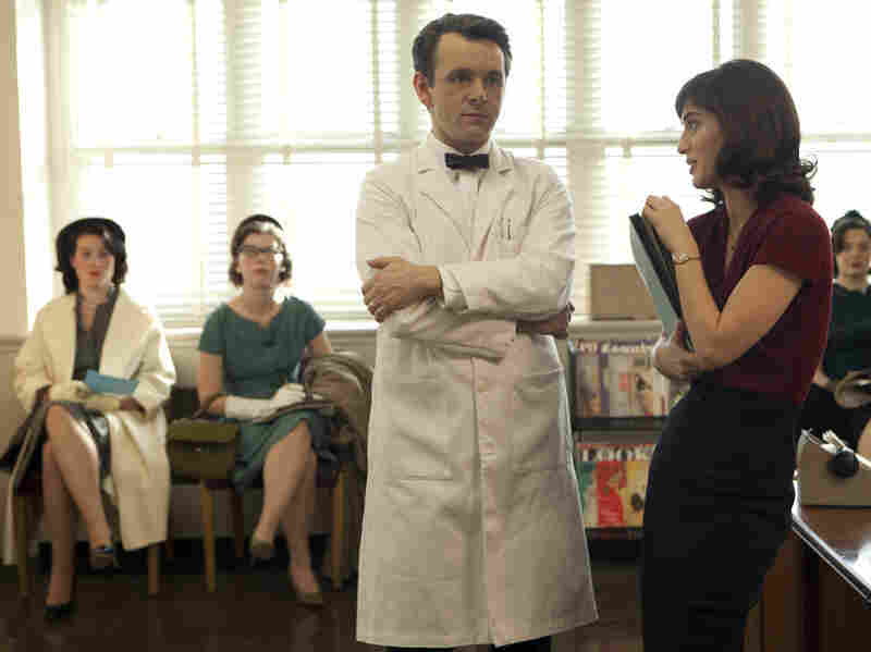 Michael Sheen and Lizzy Caplan portray pioneering sex researchers William Masters and Virginia Johnson in the Showtime series Masters of Sex, based on a book by Thomas Maier. Hear an interview with Maier.