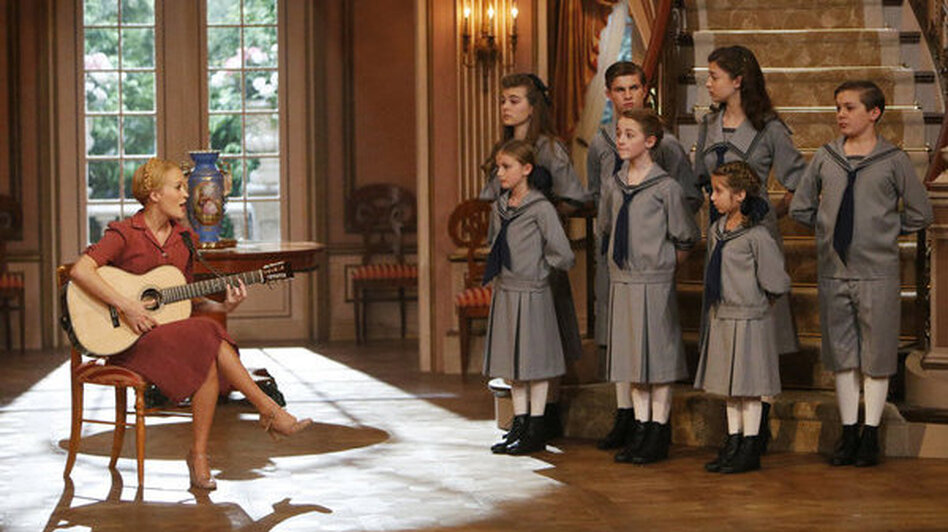 "Carrie Underwood played Maria in NBC's live production of The Sound of Music. ""If you give people reasons to watch live TV, or TV at the same time, they still will,"" says Bianculli. (NBC)"