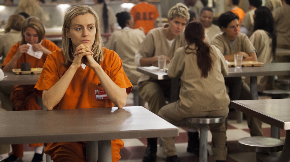 Taylor Schilling plays Piper Chapman in Netflix's Orange Is the New Black, which is based on Piper Kerman's memoir of her year in prison. Hear an interview with Piper Kerman. (Netflix)