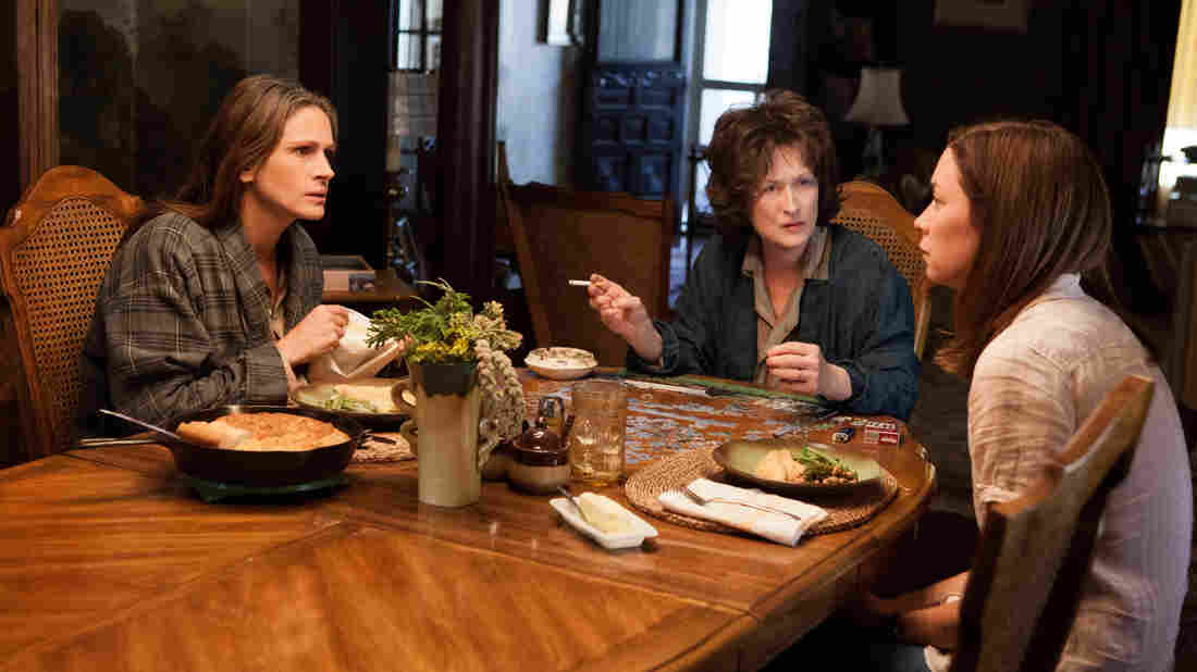 Julia Roberts, Meryl Streep and Julianne Nicholson are three of the warring Weston women in a blistering film adaptation of the Pulitzer Prize-winning play August: Osage County.