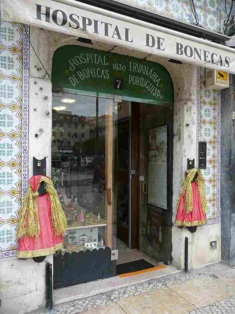 Lisbon's Hospital de Bonecas, or Doll Hospital, was founded in 1830. It's the oldest known facility of its kind, where seamstresses and handymen fix broken limbs and sew worn clothes on children's dolls. The facility is housed in an 18th-century row house off one of Lisbon's main cobblestone squares.
