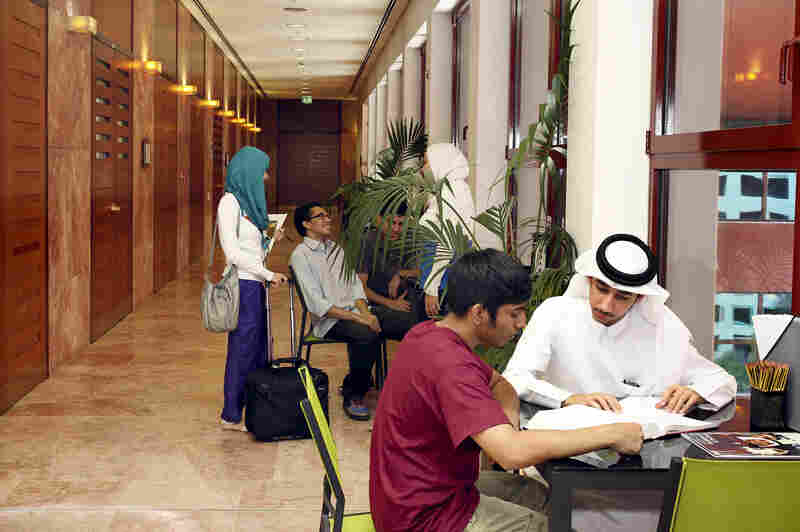 The campus attracts students from throughout the region.