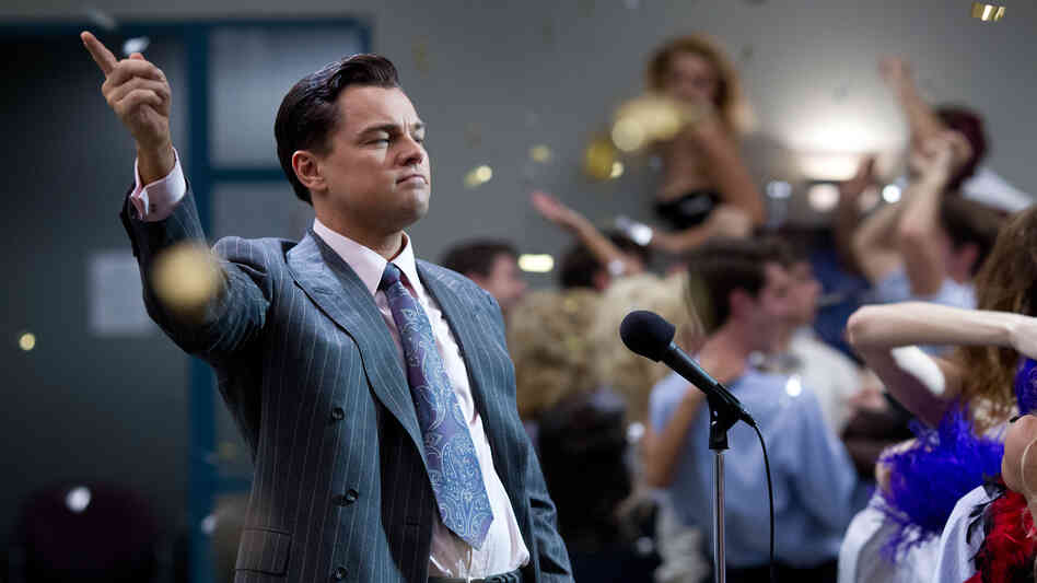 Leonardo DiCaprio plays a profoundly corrupt stock-market manipulator in The Wolf o