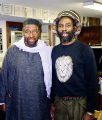 Yusef Lateef (left) with Ed Craig in 2001.