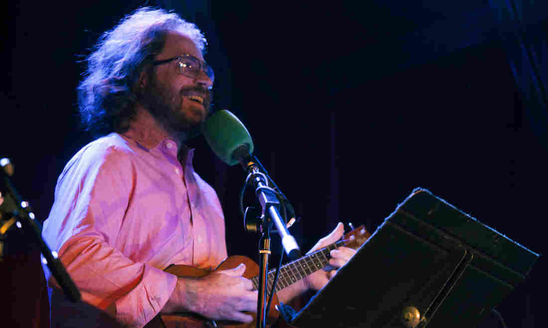Jonathan Coulton performs live from the Ask Me Another stage at The Bell House in Brooklyn, NY.