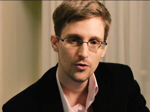 Former NSA contractor Edward Snowden in an address televised Wednesday on Britain's Channel 4.