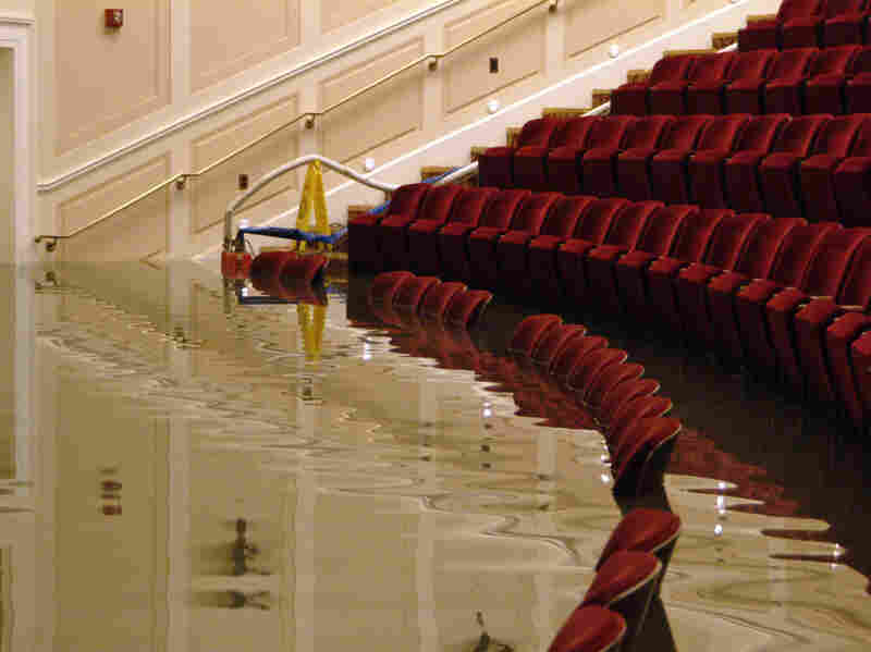 A basement theater of the National Archives building in Washington was among the many local sites flooded after a week of continuous rain in 2006.