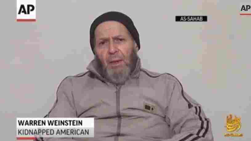 Warren Weinstein, who was kidnapped in Pakistan in August 2011, in a video sent to news outlets by al-Qaida's media wing.