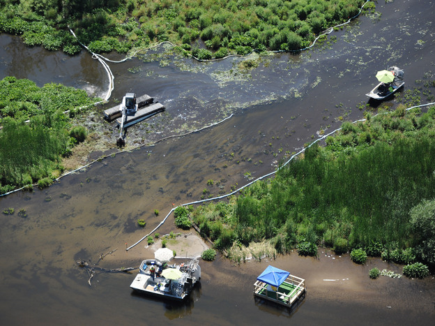 A 2010 oil spill on the Kalamazoo River was one of the largest oil spills in the history of the Midwest.