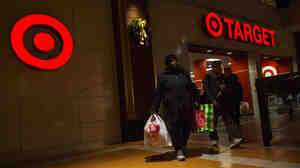 The scene outside a Target store in Brooklyn on Black Friday, Nov. 29.