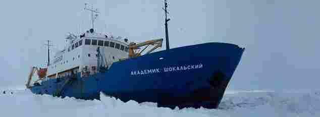 Stuck in the ice: The MV Akademik Shokalskiy.
