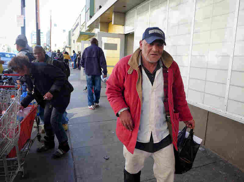George Farag is homeless and looking forward to gaining health insurance, after being unemployed for two years.