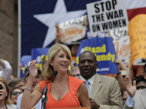 Texas state Sen. Wendy Davis filibustered for 11 hours against sweeping restrictions on abortion back in June, becoming a hero for abortion rights activists.