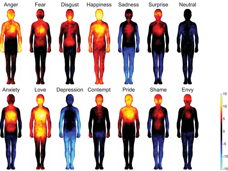 Mapping Emotions On The Body Love Makes Us Warm All Over