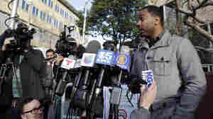Family spokesman Omari Sealey makes a statement to the media regarding the condition of his niece Jahi McMath on Monday, in Oakland, Calif.