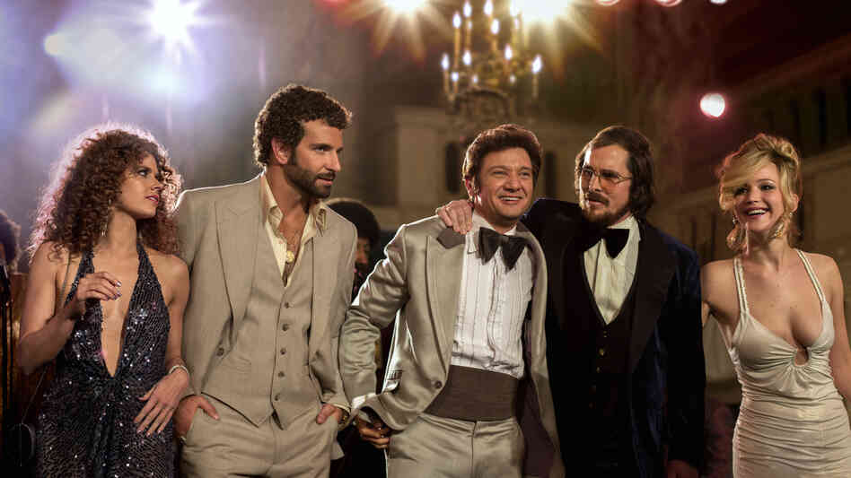 Amy Adams, Bradley Cooper, Jeremy Renner, Christian Bale and Jennifer Lawrence star in American Hustle, a movie loosely based on Abscam, an '80s-era public corruption scandal.
