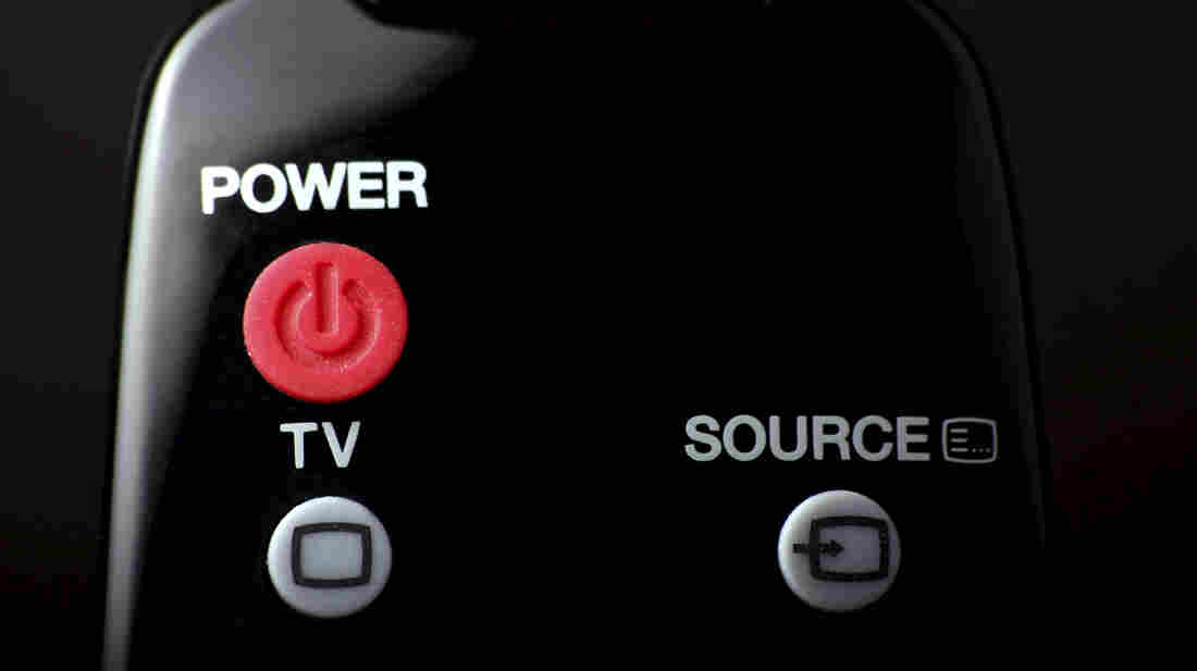 Remote control power button.