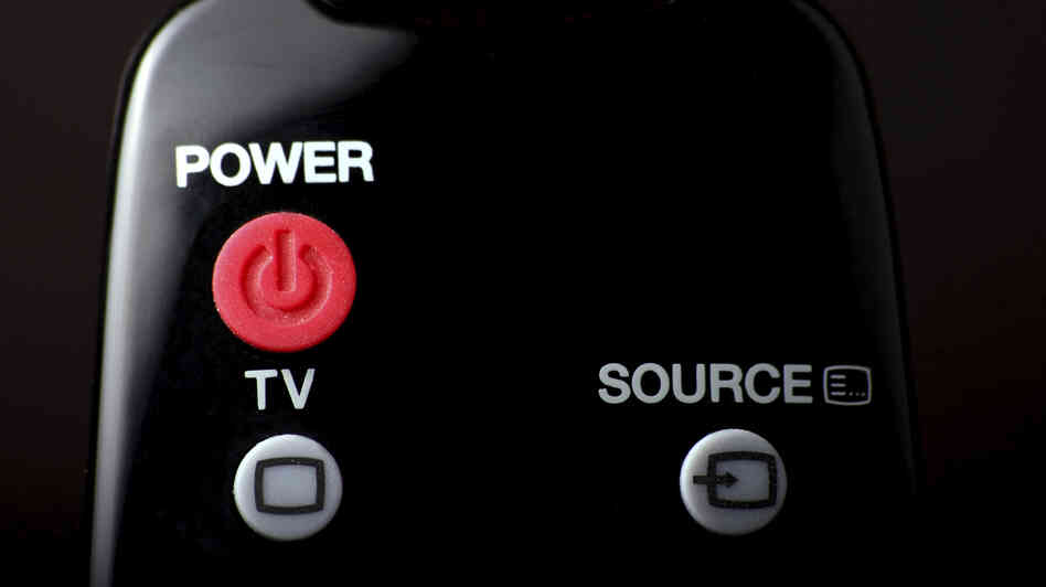 Remote control power button.