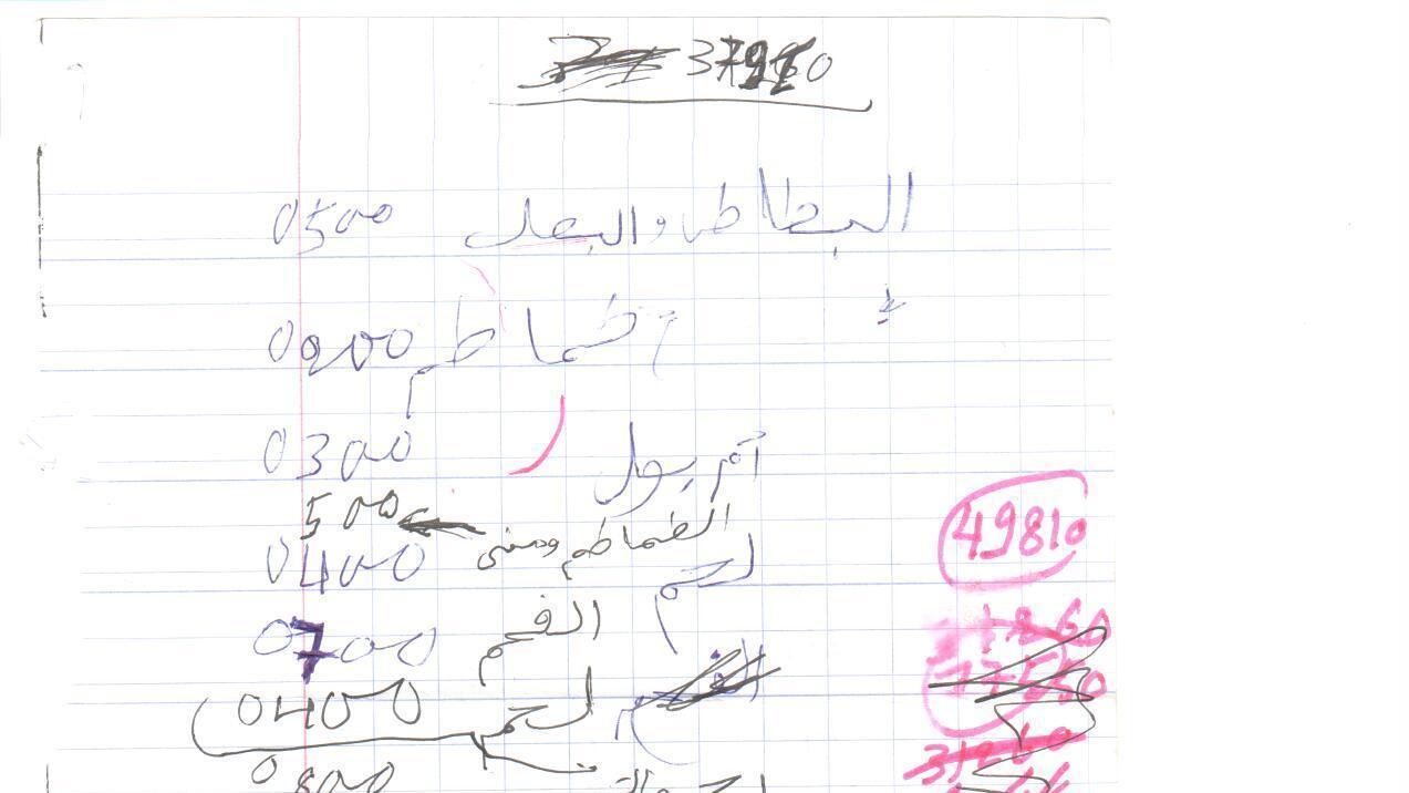 Al-Qaida's Receipts: From 60-Cent Cake To A $6,800