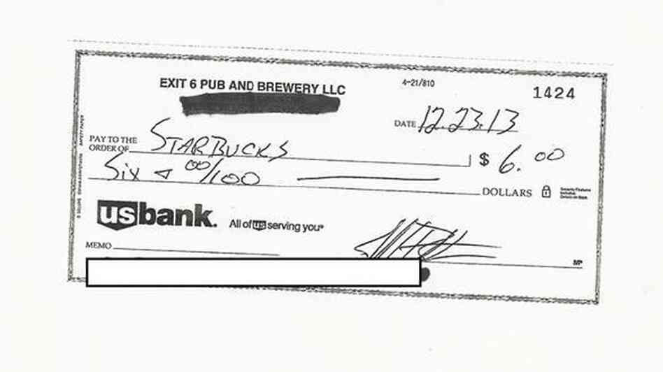 After being told that one of his products infringed on a Starbucks trademark, brewpub owner Jeff Britton wrote the coffee company a check.