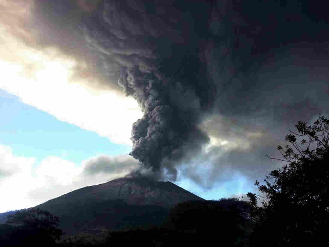 The Chaparrastique volcano in eastern El Salvador erupted on Sunday.