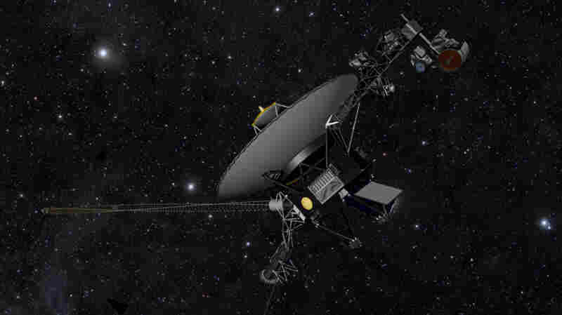 NASA's Voyager spacecraft, shown here in an artist's illustration,  is headed out where no man — nor woman, nor human-made object — has gone before.