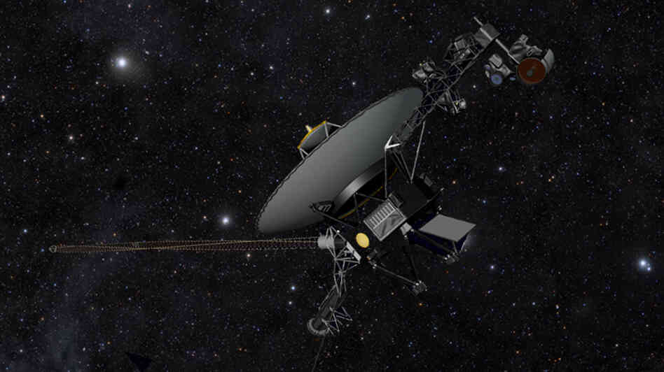 NASA's Voyager spacecraft, shown here in an artist's illustration,  is headed out where no man — nor wo