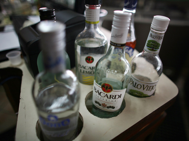 A variety of Puerto Rican rums placed on a bar in San Juan, Puerto Rico, in September 2012. A rum tax rebate that sent nearly $200 million to Puerto Rico and the Virgin Islands in 2013 is due to expire at midnight on Dec. 31.