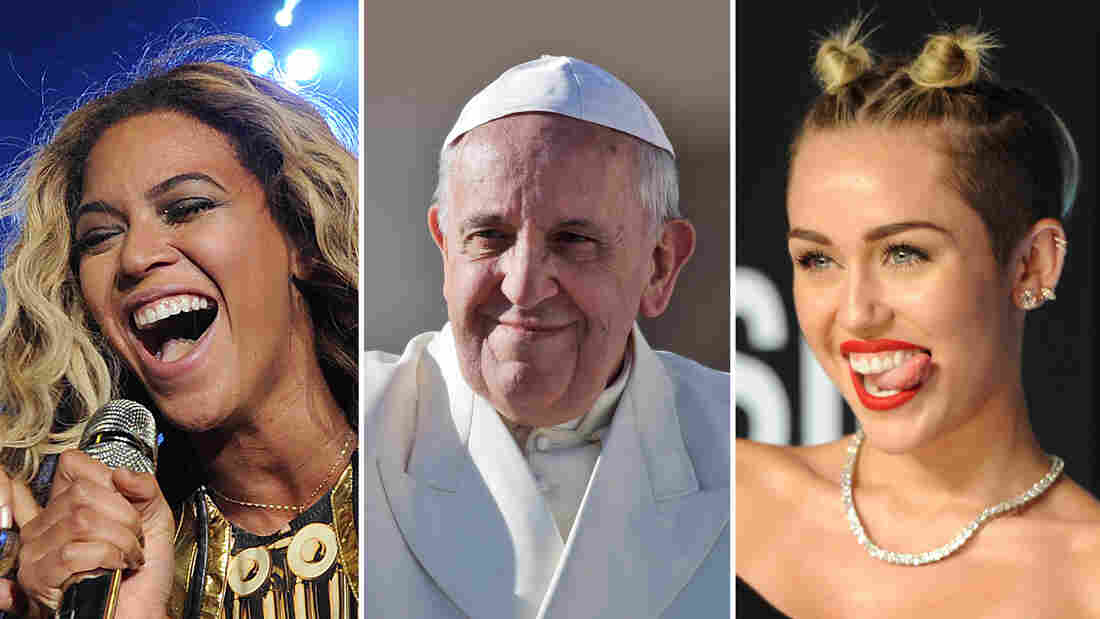 Beyonce hijacked the pop culture (and feminism) conversations for weeks. Pope Francis went about reorienting his billion-member church to the wider world, via surprise phone calls and selfies. And Miley Cyrus rankled, if only because she made your aunts talk about twerking.
