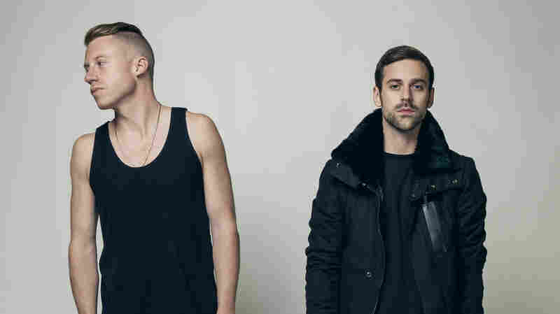 """Macklemore (left) and Ryan Lewis, whose """"Thrift Shop"""" was the biggest song of 2013, according to Billboard's year-end chart."""