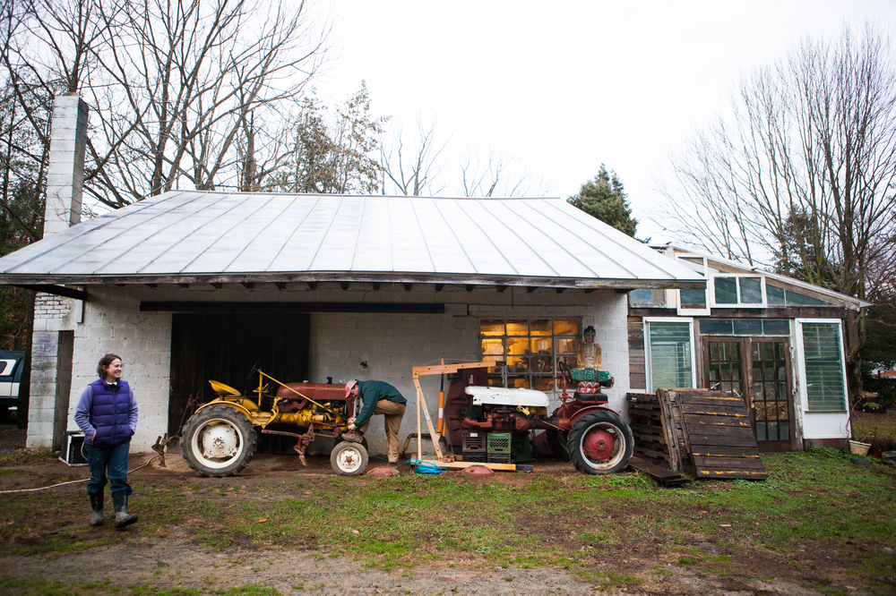 Chris and Sara Guerre are among a growing number of farmers renting land to grow local food to sell. They've been at the Maple Avenue Market Farm on rented land in Great Falls, Va., for five years.