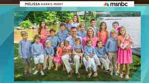 MSNBC host Melissa Harris-Perry asked her guests to comment on this photo of Mitt Romney's family, which included Romney's adopted grandson.