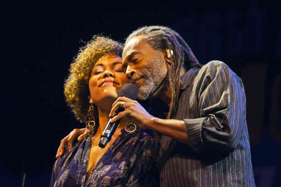 Bobby McFerrin with his daughter, Madison McFerrin.