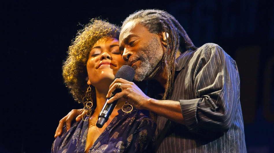 Bobby McFerrin with his daughter, Madison McFerrin. (Courtesy of Monterey Jazz Festival)
