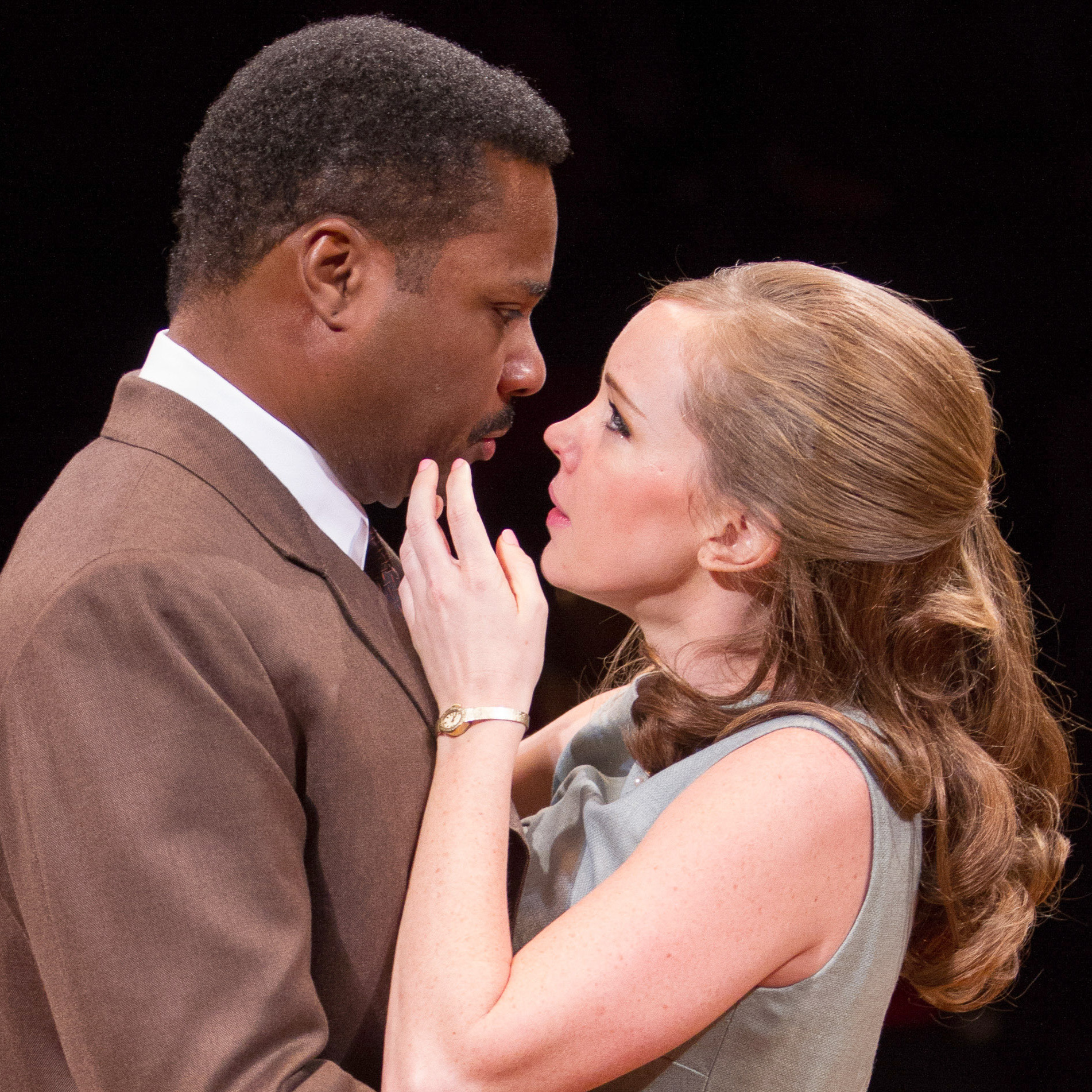 Malcolm-Jamal Warner plays Dr. John Prentice and Bethany Anne Lind plays Joanna Drayton in a new production of Guess Who's Coming to Dinner. Warner says the 1967 film had to treat the subject matter lightly, but that this staging delves deeper into the characters' emotions.
