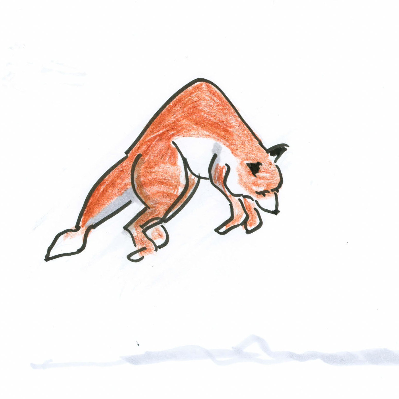 A wildly leaping fox.