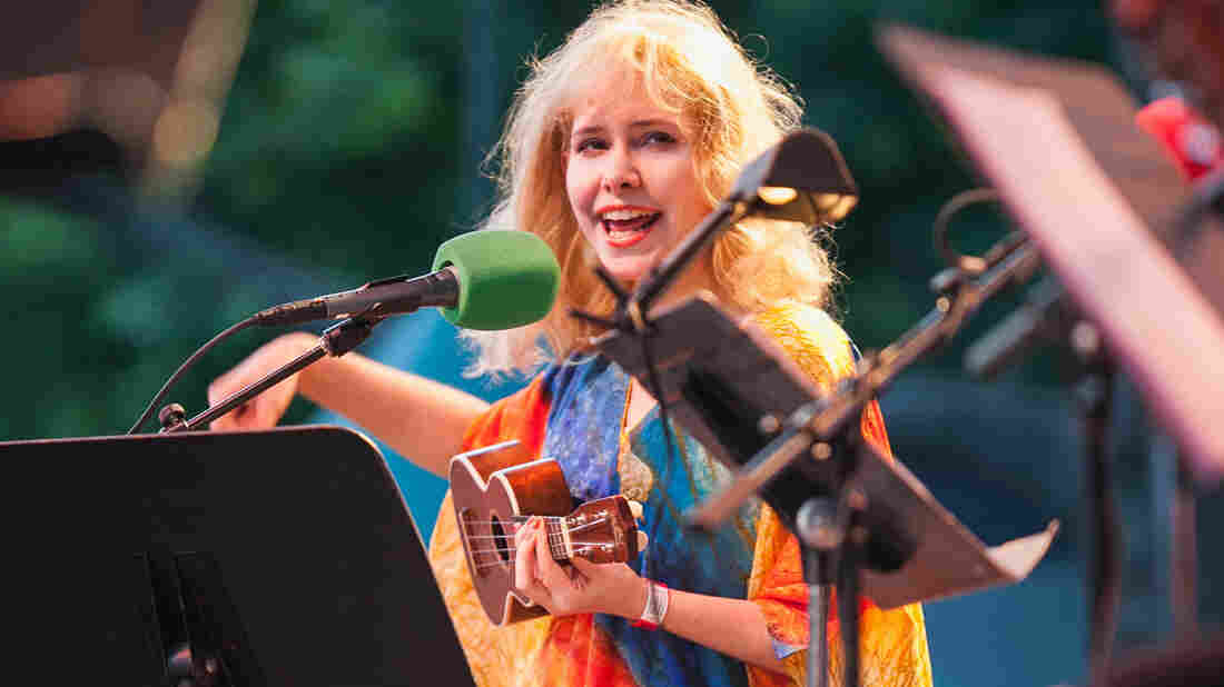 Singer-songwriter Nellie McKay, known for her offbeat lyrics and quirky humor, joined Ask Me Another in Central Park.