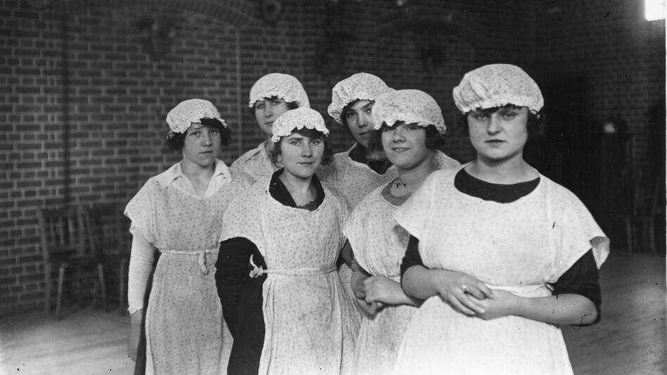 Early 20th century British maids worked long, hard days with little time off. (Getty Images)
