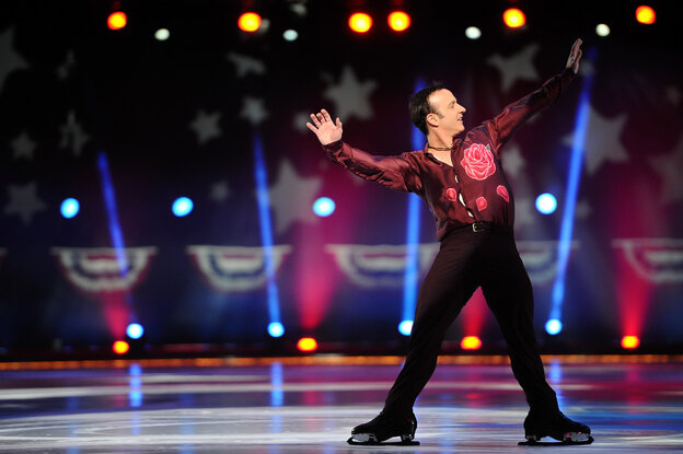 Brian Boitano skates at Izod Center on Dec. 11