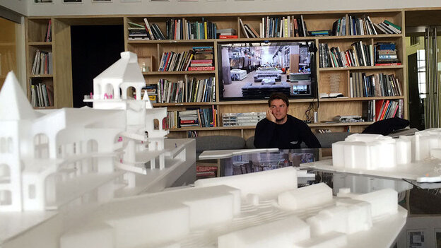 Bjarke Ingels' office in New York City is filled with plastic models of projects he's working on.