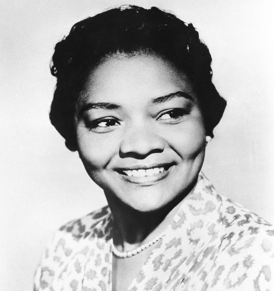 Actress Juanita Moore in 1960. She died Wednesday at the age of 99.