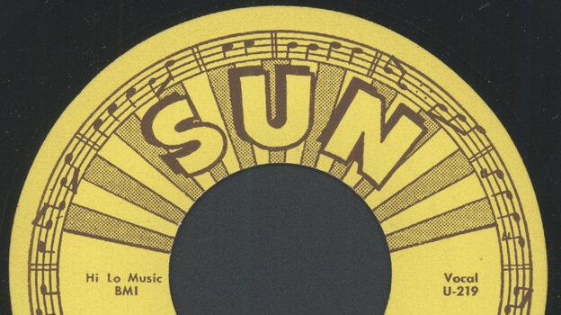 "Label for Warren Smith's ""Ubangi Stomp"" on Sun Records. (Courtesy of the artist)"