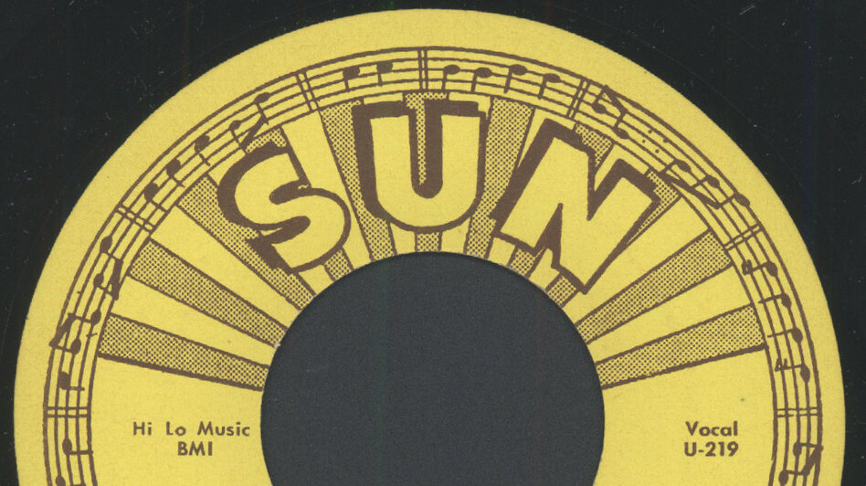 "Label for Warren Smith's ""Ubangi Stomp"" on Sun Records. (Courtesy of the artist)"