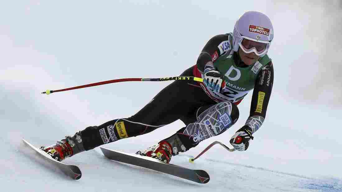 Alice McKennis speeds down the course during the women's downhill at the Alpine skiing world championships in Schladming, Austria, in February.