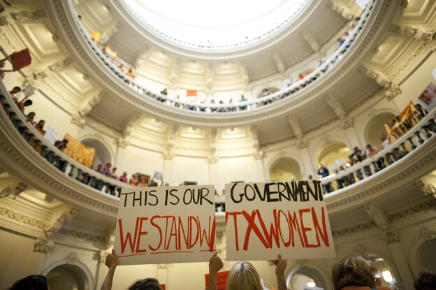 The Texas legislature was among 22 nationally that passed restrictions last year to curtail abortions — often, as happened in Austi