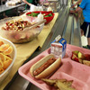 Students pick up their lunch at Barre Town Elementary School on Sept. 3, 2013 in Barre Town, Vt.